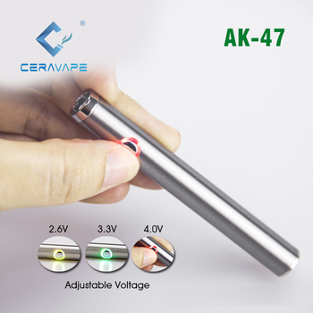 2019 trending product adjustable voltage vape pen battery 400mah 510 thread slim button battery