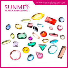 Brand new acrylic button rhinestone trimming loose carved gemstones with great price