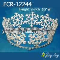 Full round snow flowers Christmas pageant crowns