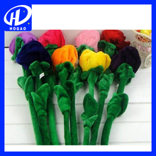 Multi- many multicolored Flower Toys Plush Beautiful Rose Flowers Doll Gift