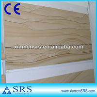 landscape painting Honed yellow Sandstone countertop