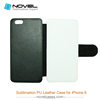 Dual Protective cell Phone Case for iphone 6, convenient to use, blank phone cover, phone wallet, PU leather case