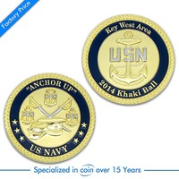 Supply high quality custom souvenir challenge navy coin