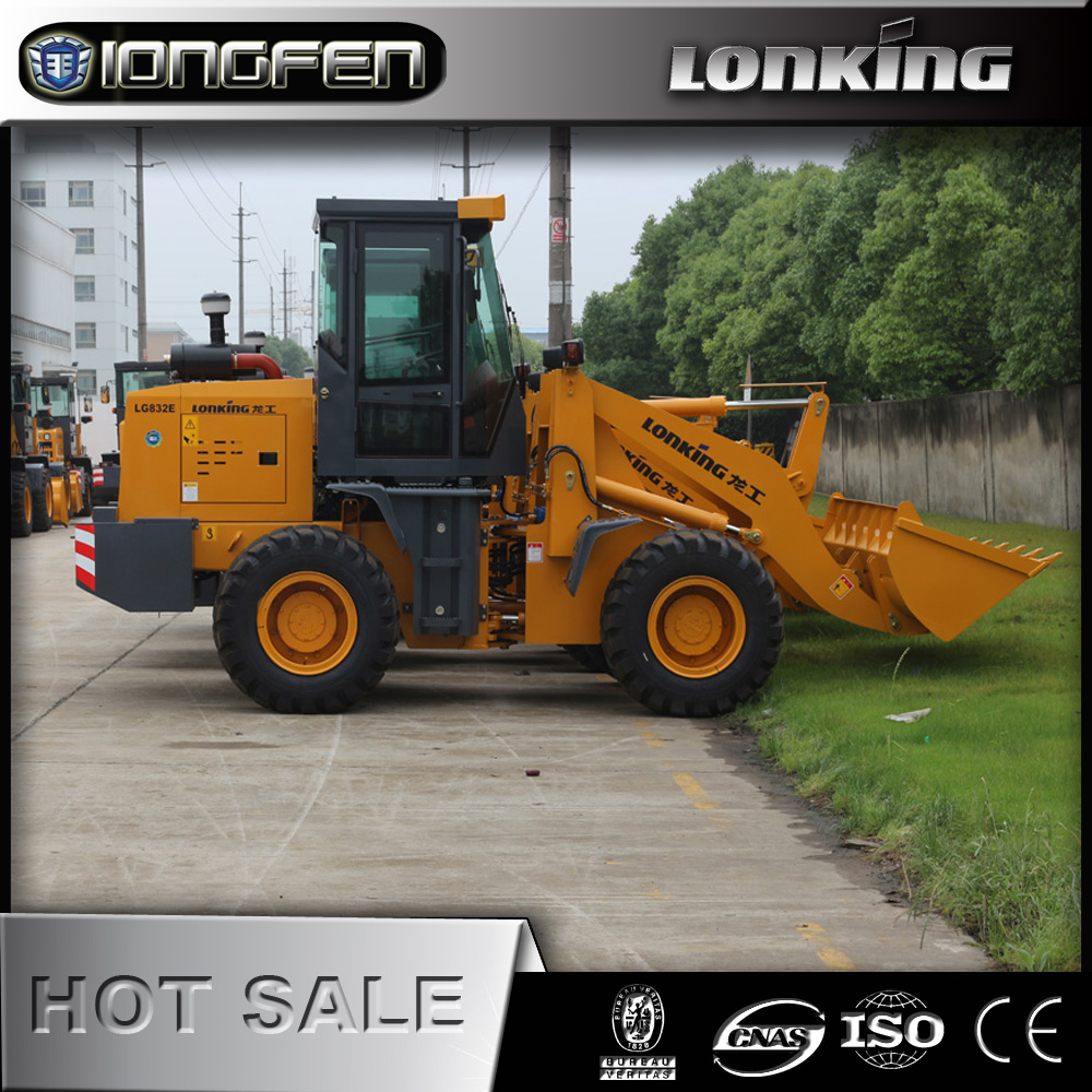 LG832E Construction machine 2 ton loader for paving road