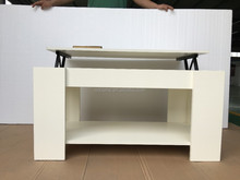 Modern multifunction height adjust lift up top wood coffee table
