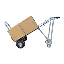 Four-wheels multiposition foldable aluminum hand trolley truck convertible dollys