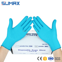 PH5.5 Protect Blue Latex Gloves Wholesale Surgical Gloves Rubber Gloves