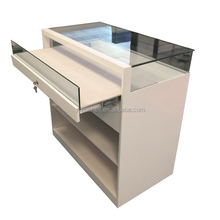 Modern luxury wood glass jewellery display showcase /lockable jewelry counter designs/ perfume display stands