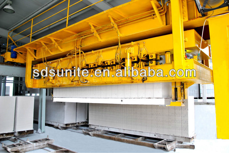 SUNITE/ AAC /brick making machine-variable base supporting vehicle