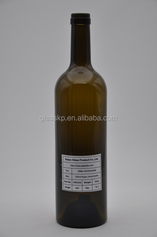 Top sales glass bottle packaging for wine in America