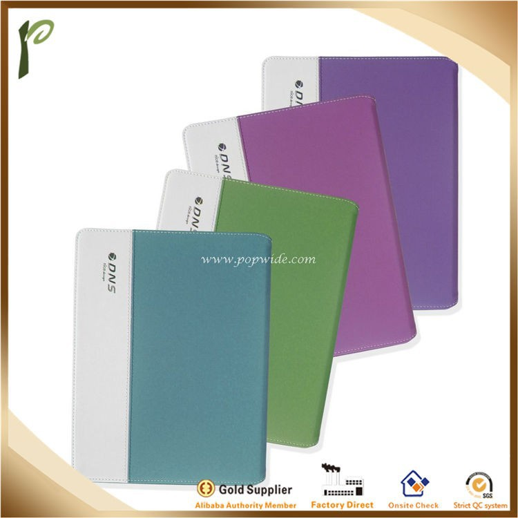 Popwide Hot Sale High Quality Purple Leather/PU Case for Ipad, pad cover