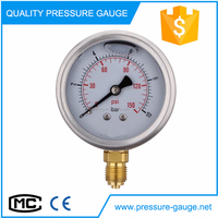 2.5 inch SS CASE Brass gauge china manufacture pressure gauge