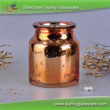 Copper mercury candles scented luxury glass jar