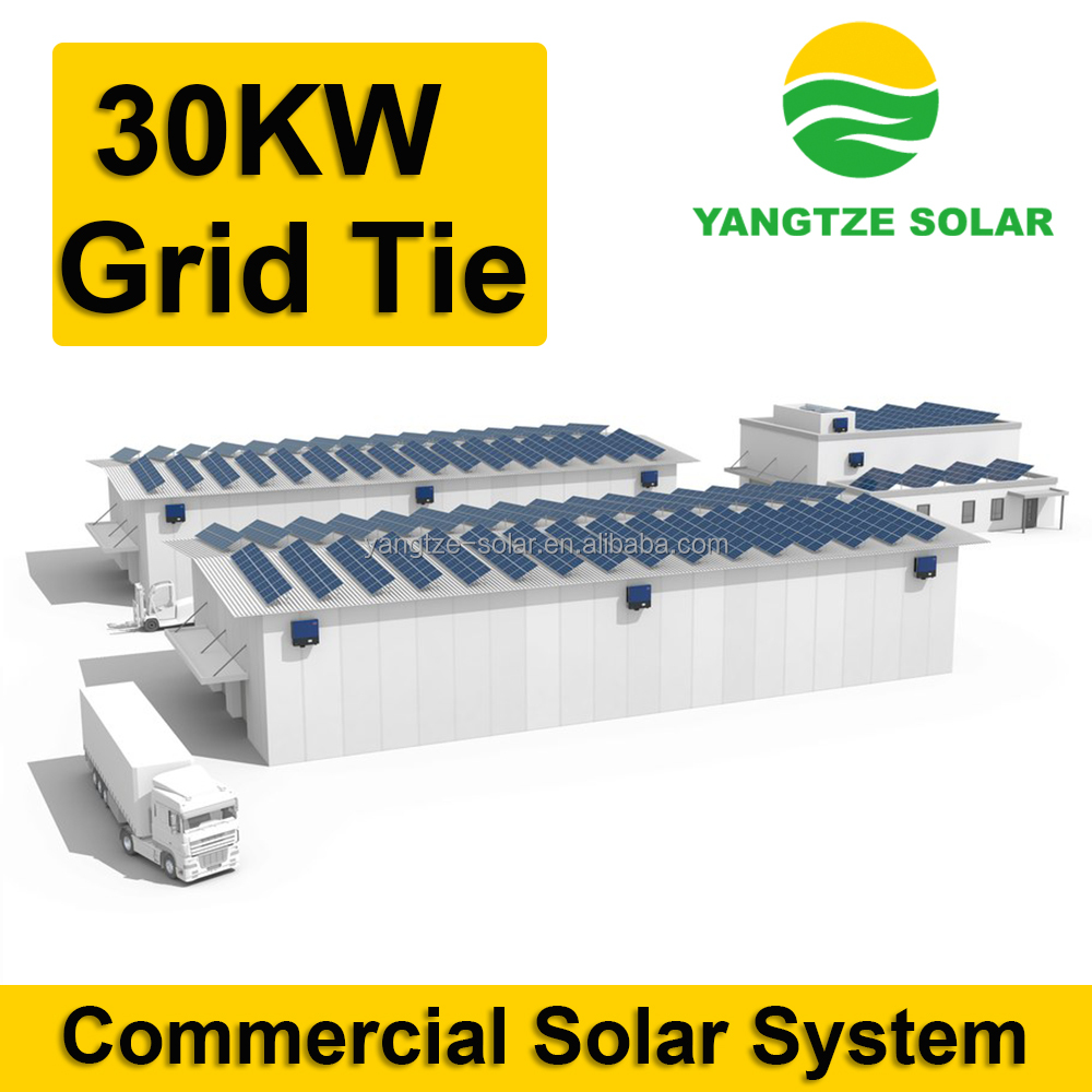 ISO CE TUV Approved 30kw solar energye system