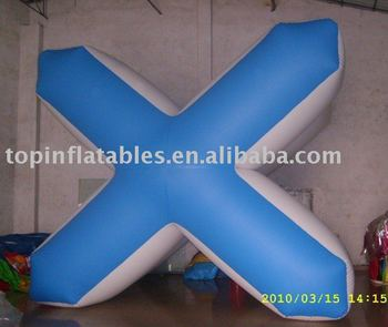 X shaped inflatable paintball bunker