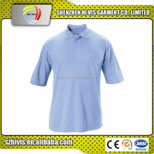 custom 185gsm polyester/cotton blue mens pique fabric polo shirt