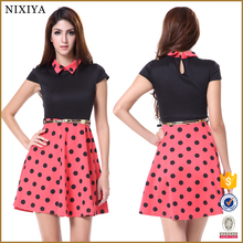 Wholesale Vintage Dress, Dot Print Rockabilly Dress 50S