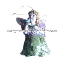 Decorative ceramic butterfly fairy bell