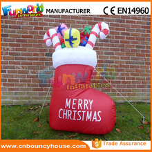 2.4m Inflatable Boots & Presents Inflatable Sock for Christmas Gift