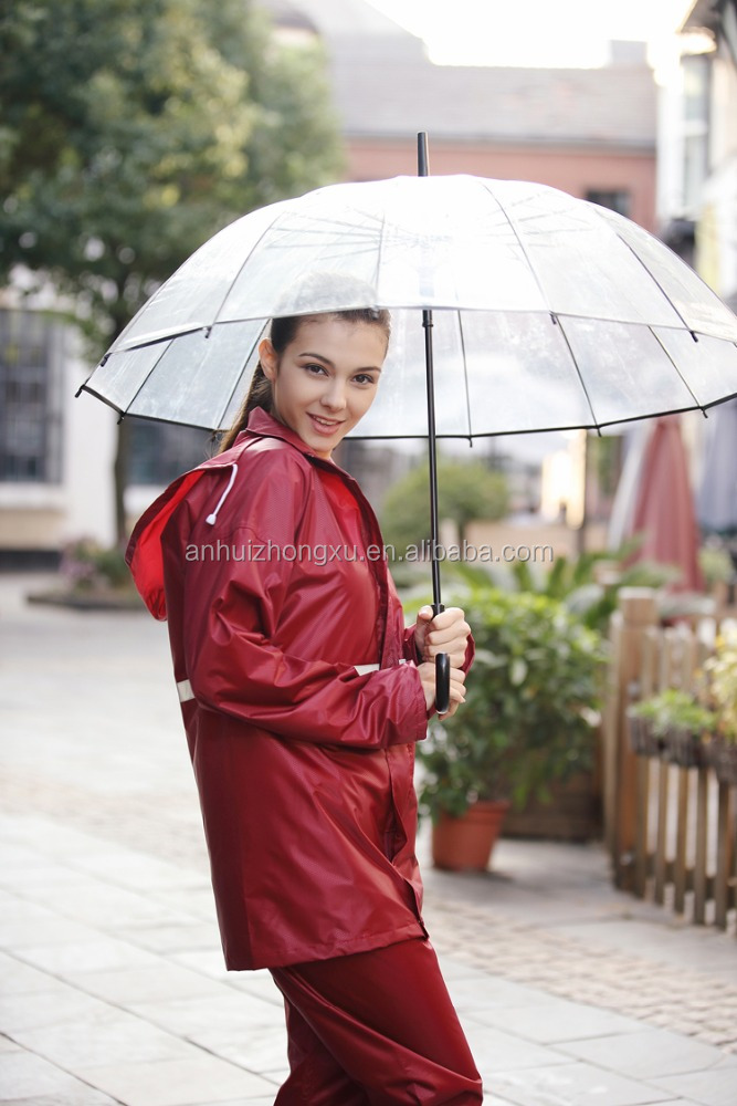 Lady One Piece Rain Suits custom winter jacket