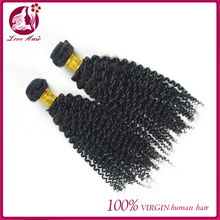 Guaranteed quality 6A grade raw unprocessed virgin malaysian hair Kinky Curly natural color Virgin Hair wefts