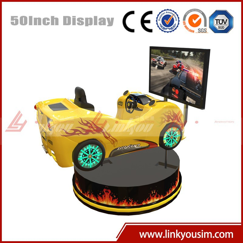 Electric platform 4 DOF car driving simulator arcade racing car game machine