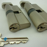 Brass mortise door cylinder lock, double open cylinder lock
