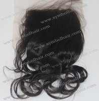 Instock 4*4 hot-selling 10'' Natural Color brazilian Natural Wave closure