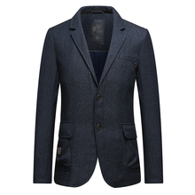 New Design 2018 fashion casual knitted blazer suit for men