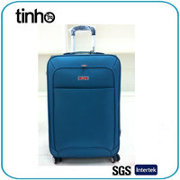 Hot selling PP EVA luggage trolley case patent leather luggage