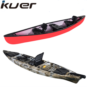 plastic fishing canoe kayak for single and tandem seater