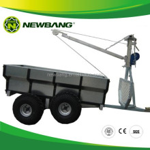 quad bike log trailer with crane