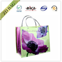 eco recycled pp woven plastic shopping bag