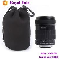 Neoprene Classic Black Digital Single Lens Reflex Bag Waterproof Shockproof Camera Lens Case