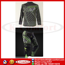 KCM1712 Fox Jersey+pants Race Motocross Suit motorcycle jersey moto clothing set Racing Cross country Tshirt pants