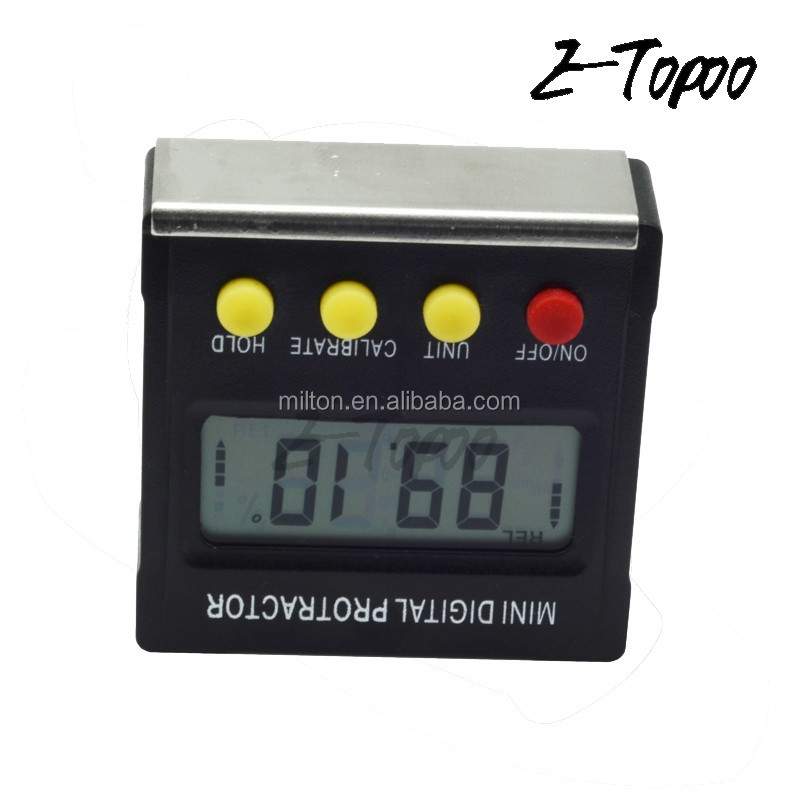 Mulit function Mini digital Inclinometer / Protractor/level bevel box
