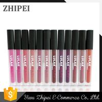 New coming unique design different colors LULAA waterproof lip gloss