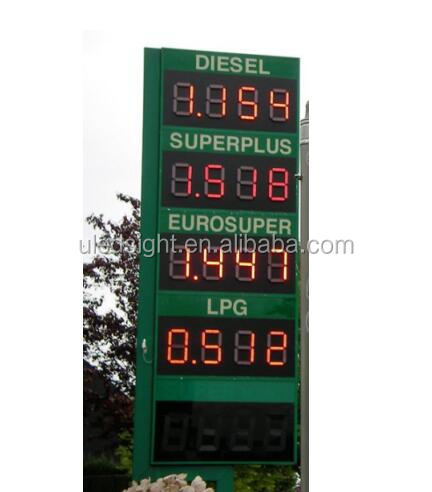 Wholesale low price 7 segment Regular electronic sign led Gas Station sign for sale