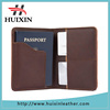 RFID design passport wallet leather custom travel passport holders