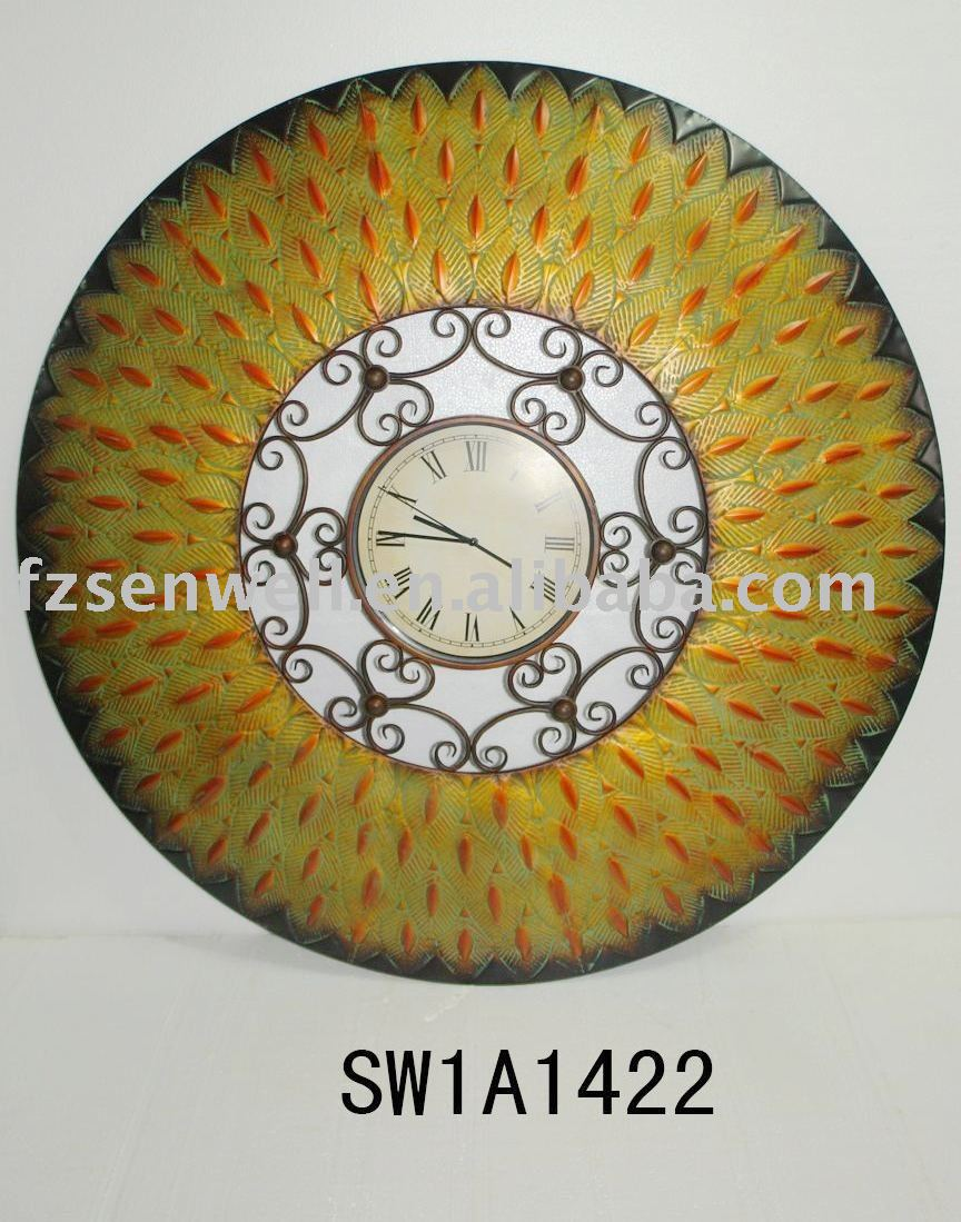 2010 antique copper like wall clock