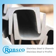 stainless steel u-channel size structure 316 u-channel