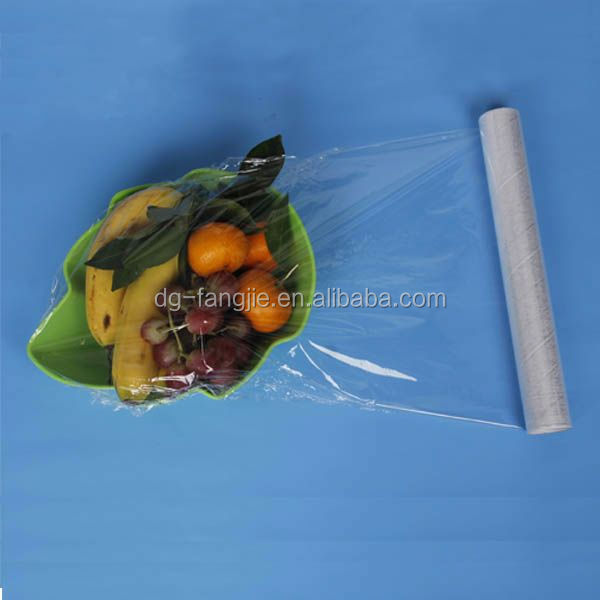 polyethylene film fruits packing food stretch wrap for supermarket