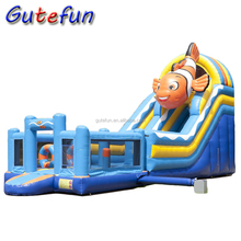 Largest seaword theme fish jumping castles inflatable water slide
