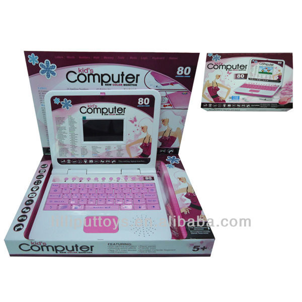 Educational Color Screen Learning computer for Child, Learning Laptop with Mouse