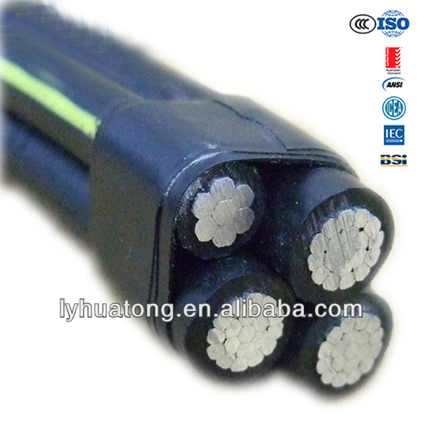 150mm2 XLPE Insulation Rated Voltage 0.6/1 kv Aerial Bundled Cable ABC Cable