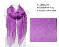 pure purple color scarf solid chiffon female scarfs long summer shawls wraps