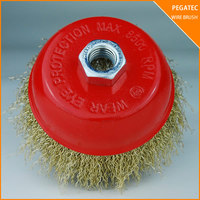 Twist knot steel wire brush for rust welding burs removing