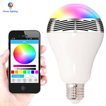 Android IOS Control Led Color Light E27 14W Color Changing Led Light Bulb, Music Bluetooth Led Bulb
