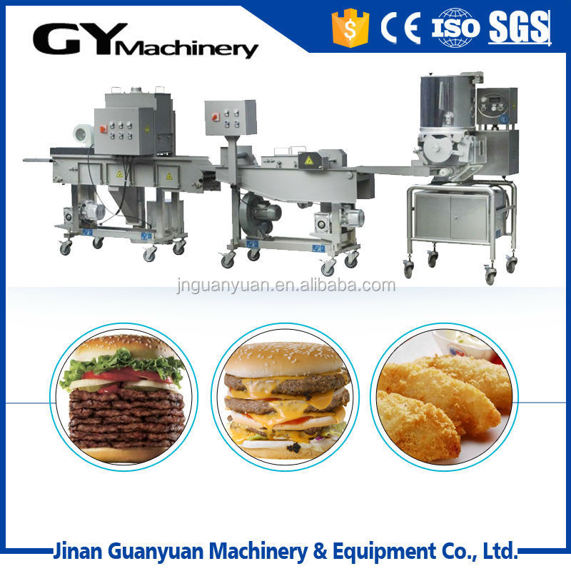 Multi-function stainless steel automatic burger patty machine
