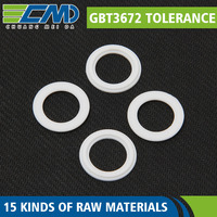 Good Property NBR / FKM / MVQ White Colored Round Flat Heat Resistant Rubber Gasket